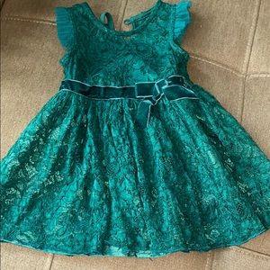 Green dress girl